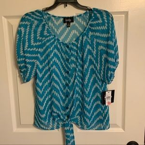 By & by size medium teal blouse new with tags